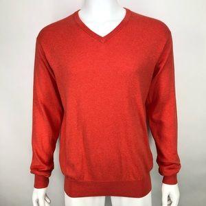 Peter Millar M Orange Cotton Cashmere Sweater V